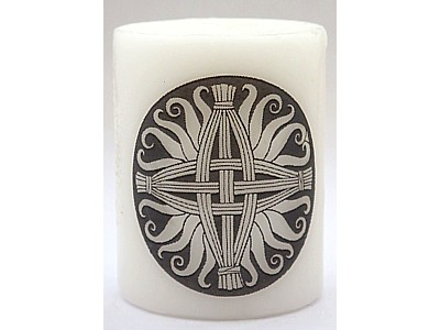 5cm Brigid's Cross Celtic Candle