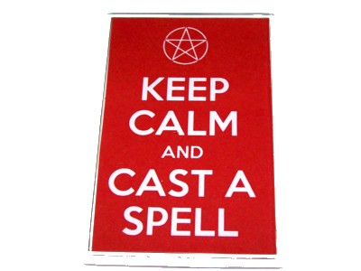 Keep Calm and Cast a Spell Magnet Pentacle