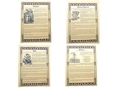 Sabbat Posters - set of 8