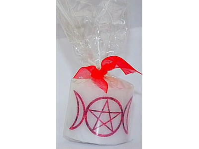 03.5cm Candle Pentacle Triple Moon